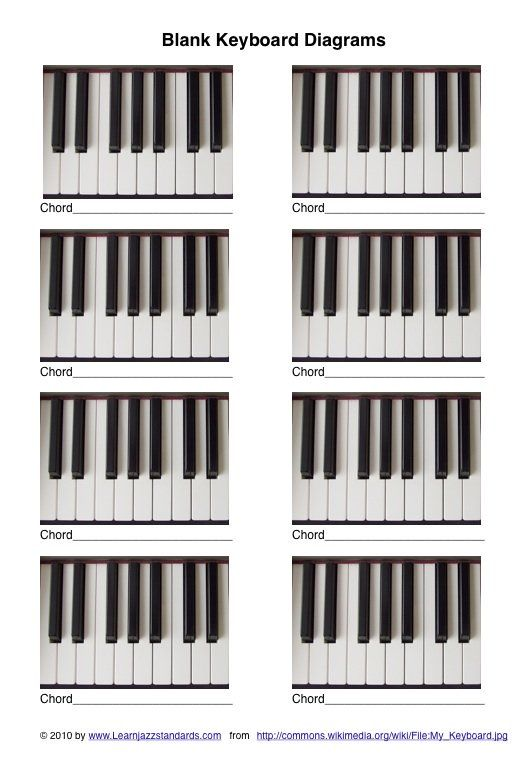 Blank Keyboard Diagrams Piano Pinterest Diagram Pianos And Jazz