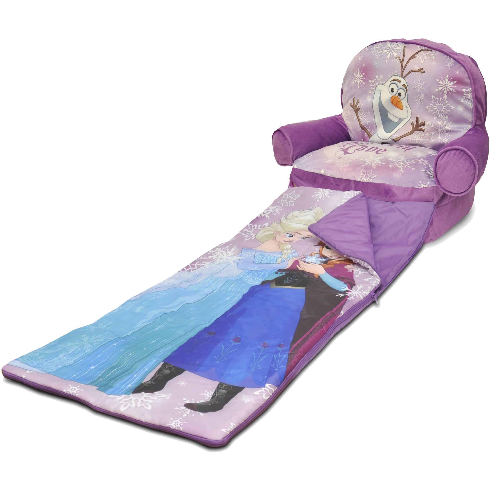 Groovy Walmart Disney Frozen Bean Bag With Bonus Slumber Bag Only Creativecarmelina Interior Chair Design Creativecarmelinacom