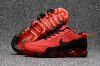 Fired Red Black Nike Air Vapormax Flyknit 2018 Running Shoes