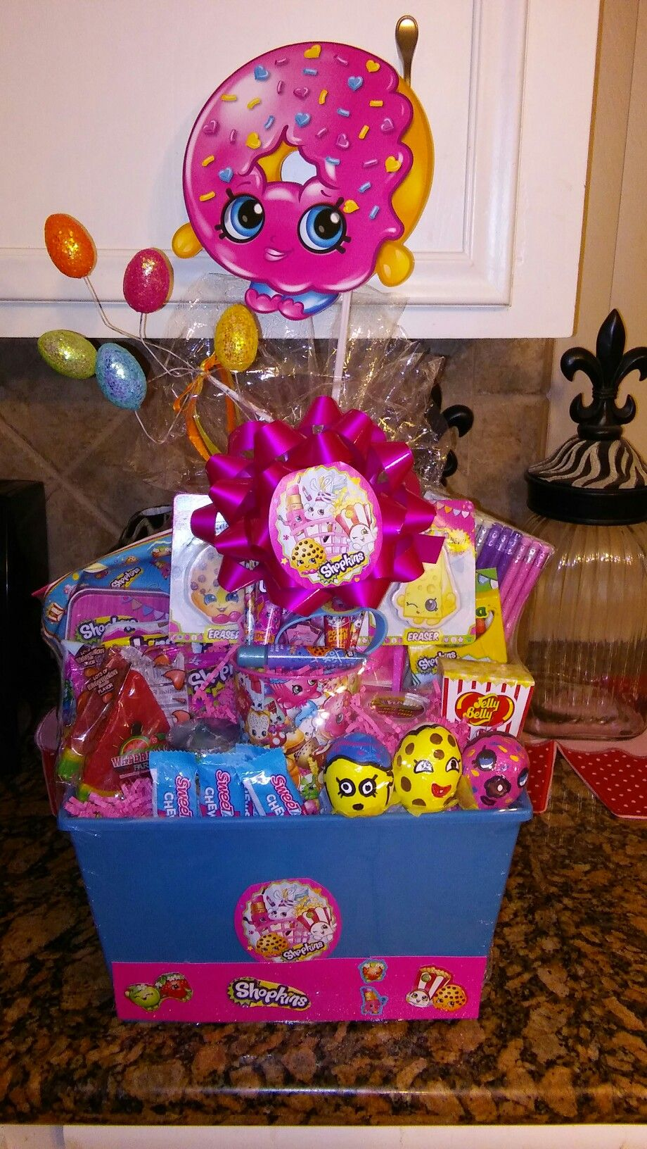 Shopkins easter basket gift baskets pinterest easter baskets shopkins easter basket negle Images