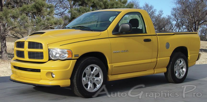 Dodge RAM CROSSROADS Upper Body Wide Pin Striping Vinyl Graphic - Truck bed decals custombody graphicsdodge ram