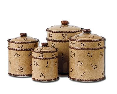 Kitchen Canister Sets On Western Kitchen Canisters Western Canisters