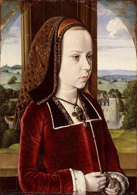 Jean Hey, Portrait of Margaret of Austria, c. 1490