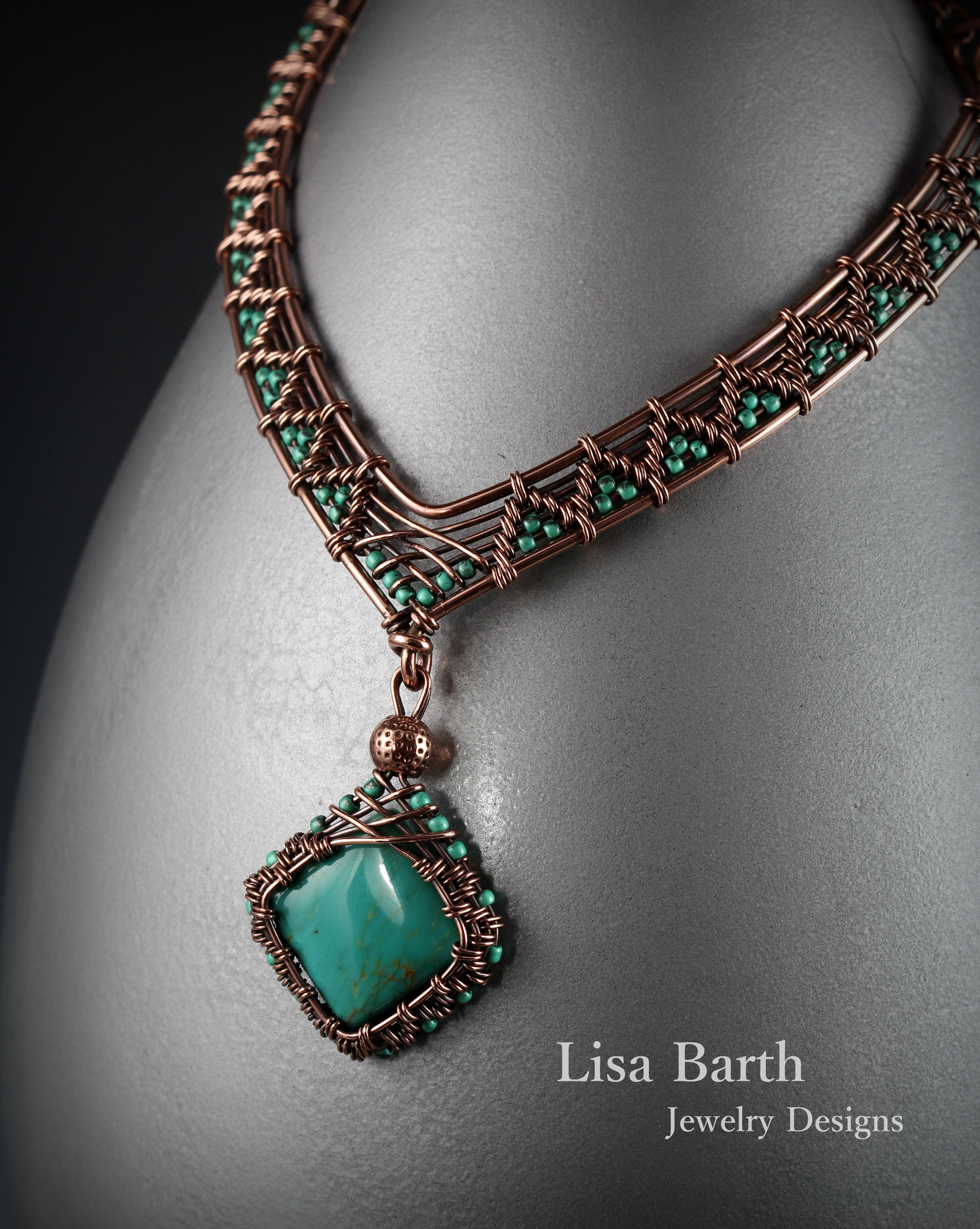 a woven necklace to go with the pendant lisa barth