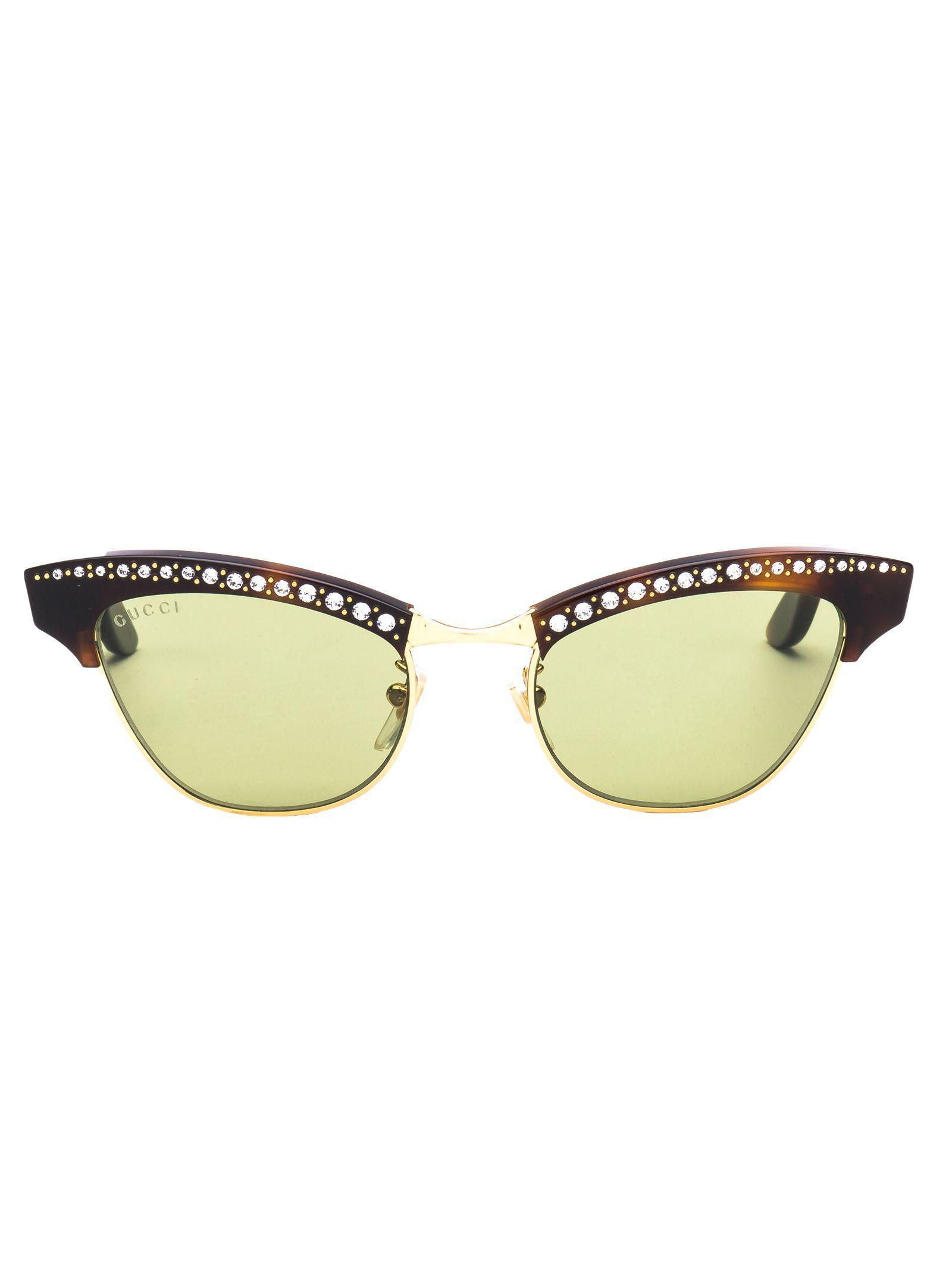 ac95c6ce9024 GUCCI EYEWEAR CRYSTAL EMBELLISHED SUNGLASSES. #gucci | Sunglasses ...