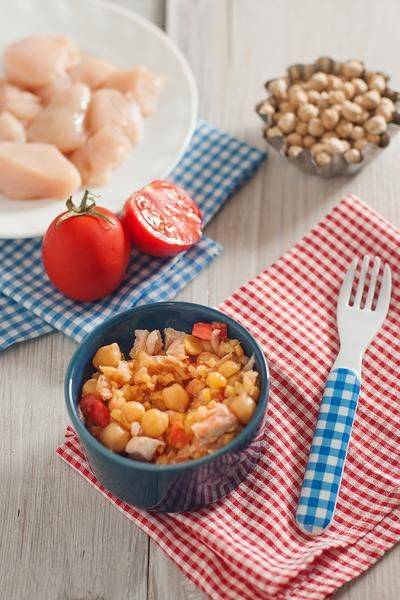 Chicken, Chickpea And Tomato Homemade Baby Food Recipe ...