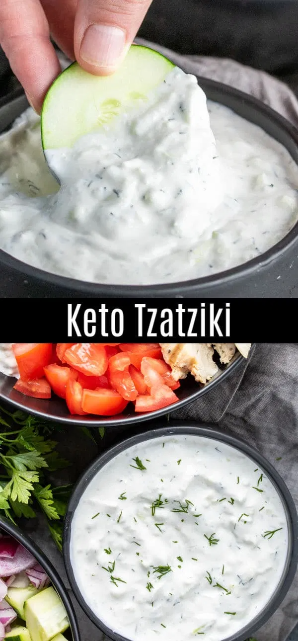 This Easy Recipe For Tzatziki Sauce Is A Keto Version Made With Sour Cream Instead Of Greek Yogurt In 2020 Tzatziki Sauce Recipe Tzatziki Sauce Homemade Sauce Recipes