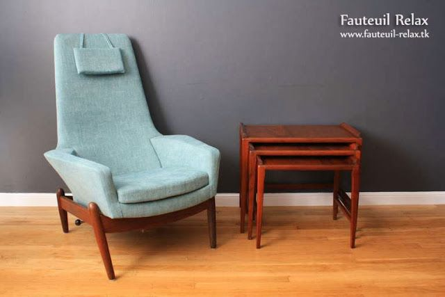 Fauteuil scandinave Danish inclinable Fauteuil relax