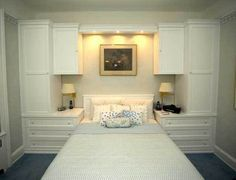Custom - White Built-In Wall Unit With Bed #remodelingorroomdesign