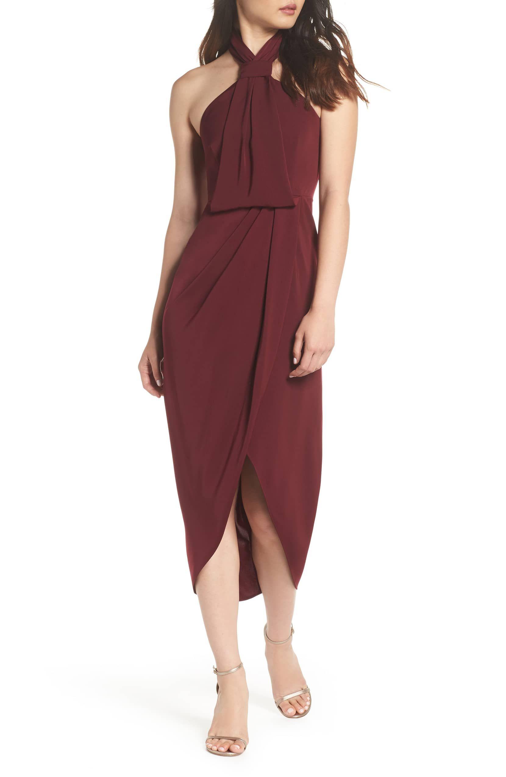 7719ebd411b Knotted Tulip Hem Midi Dress