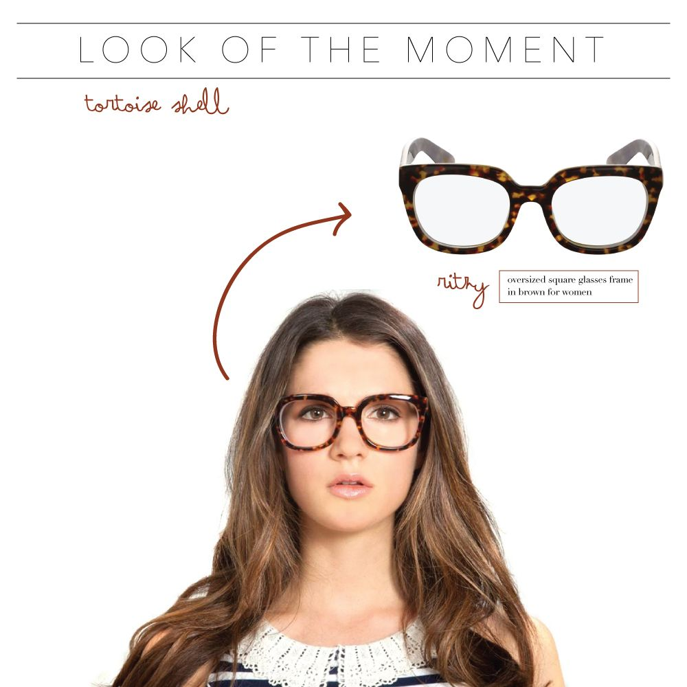 72d240bf8f4 Look Of The Moment  Tortoise Shell-Try Vint   York s Ritzy frame for this  winning look.