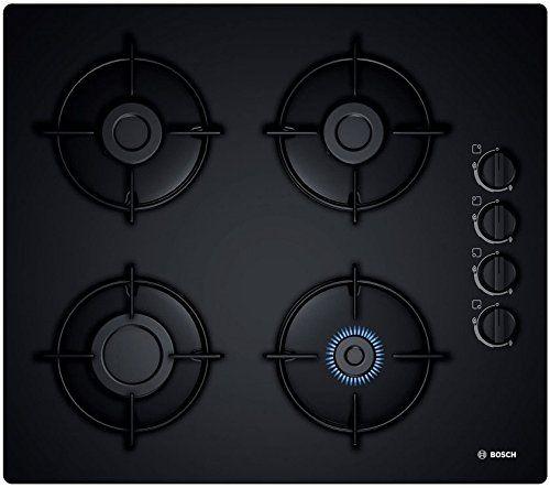 Bosch Pop6b6b10 Plaque Plaques Intégré Gaz Verre Noir