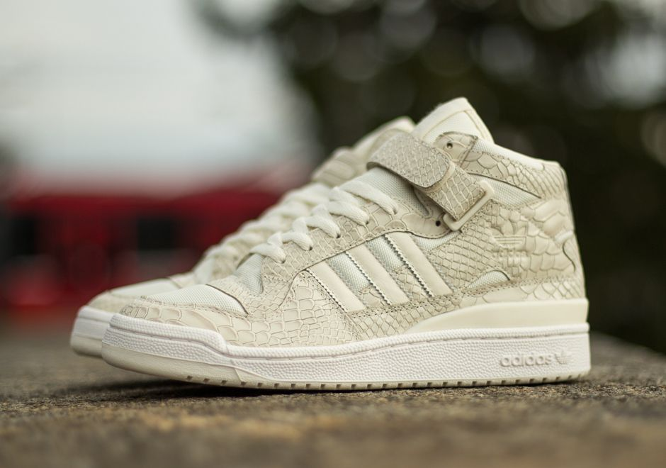 """You can never have too much snake print! Check out the adidas Originals Forum Mid RS """"Reptile"""" Pack and let us know what you think."""