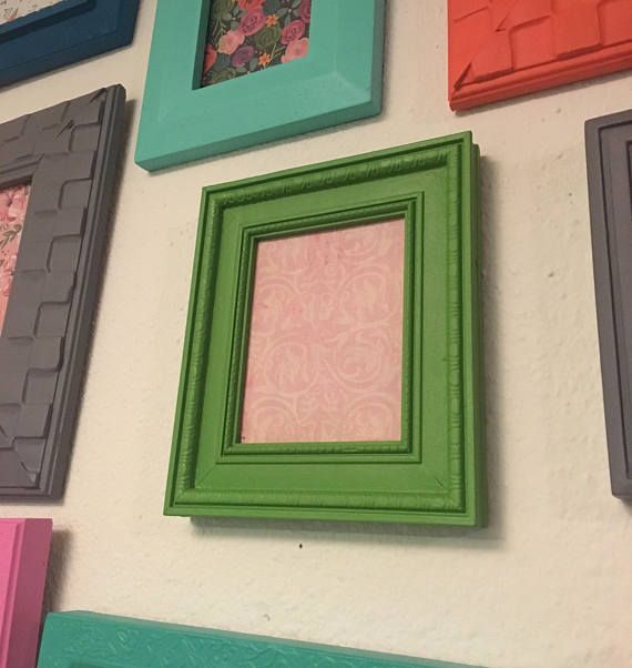 Picture Frame Upcycled Handpainted Green 4x5 Photo Frame Etsy Frame Picture Frames Repurposed Frame 4 x 5 picture frames