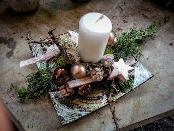 Schlicht Und Edel Adventsgesteck Advent Weihnachten