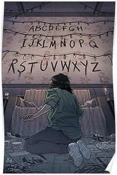 Stranger Things (run) Poster by -lumossolem-