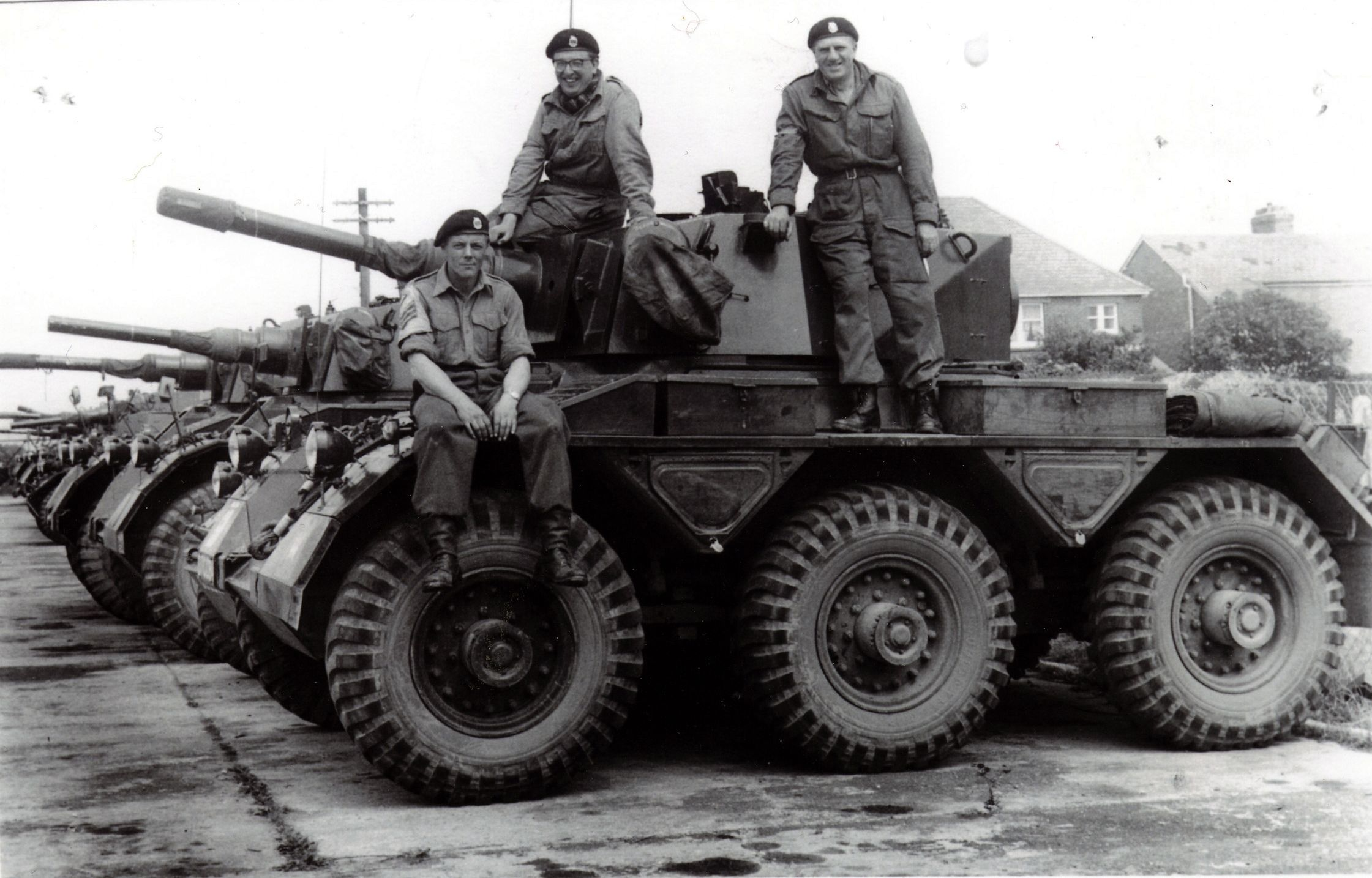 6472d0a991b9 Saladin armoured cars of C Squadron Berkshire and Westminster Dragoons at  Craven Dene TA Centre Newbury circa 1963. L-R Sgt D Brown