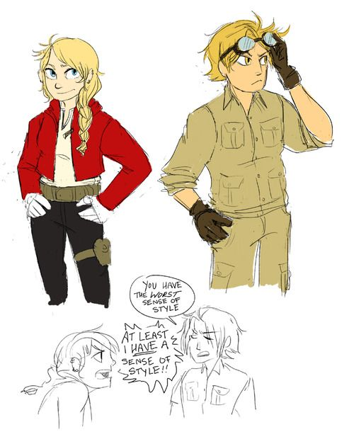 """How I imagine Ed and Winry's kids when they're older ...