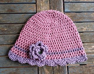 1f35cbe8bba Waiting for Spring Flapper Hat with Rose pattern by Darleen Hopkins ...
