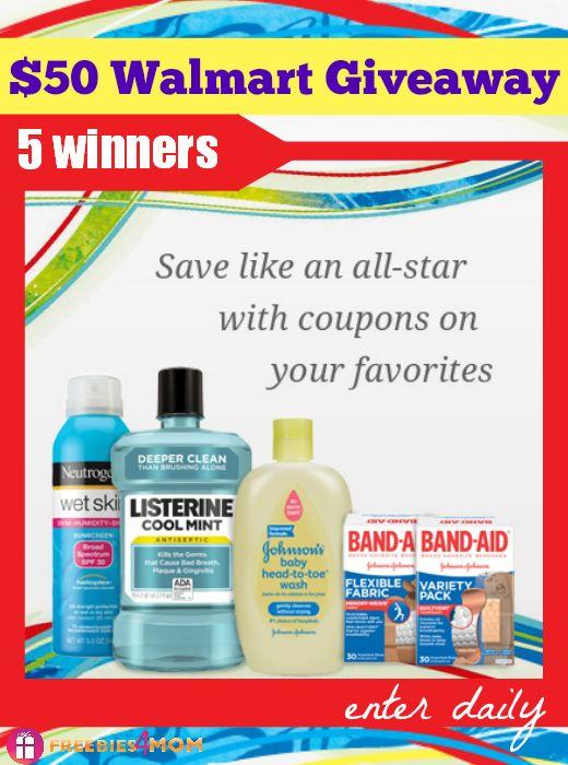 Closed Johnson Johnson Healthy Essentials 50 Walmart Gift Card Giveaway Freebies 4 Mom Walmart Gift Cards Johnson And Johnson Giveaway