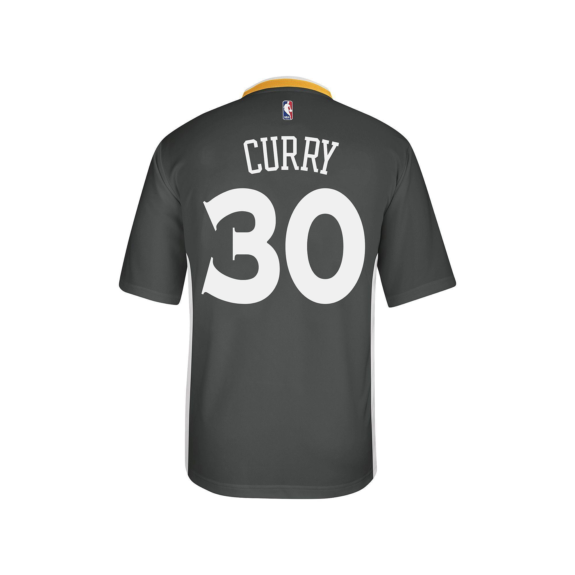 Adidas Men's Golden State Warriors Stephen Curry Replica Jersey, Size: Medium, Black