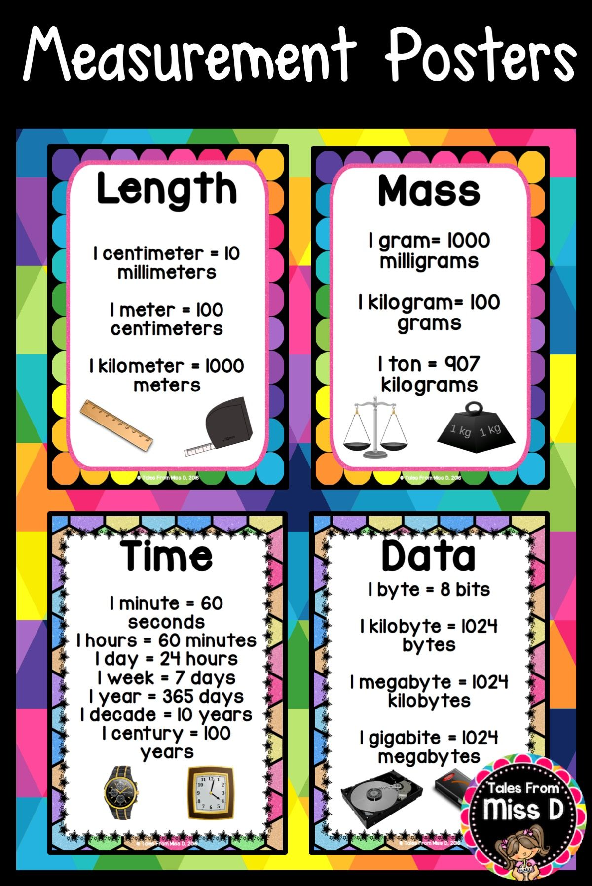 Measurement Posters Math Classroom Posters Math Measurement Studying Math