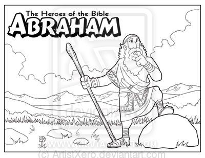 abraham coloring page by on deviantart bible stories pinterest. Black Bedroom Furniture Sets. Home Design Ideas
