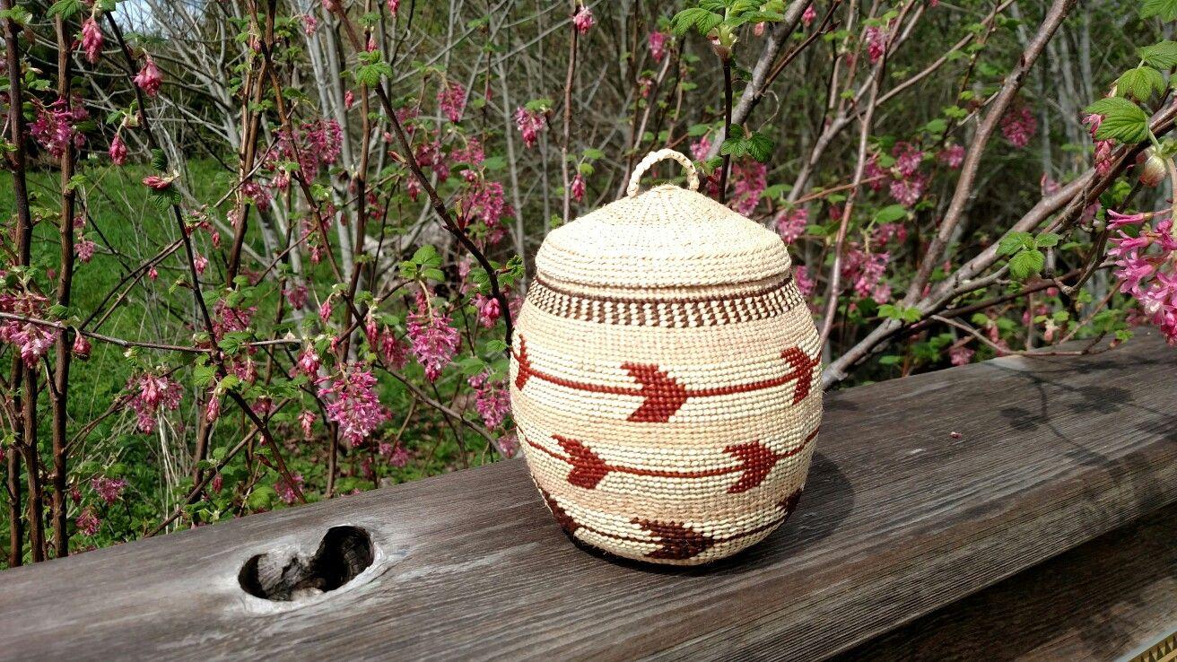Karuk basket by weaver denna dodds basket design