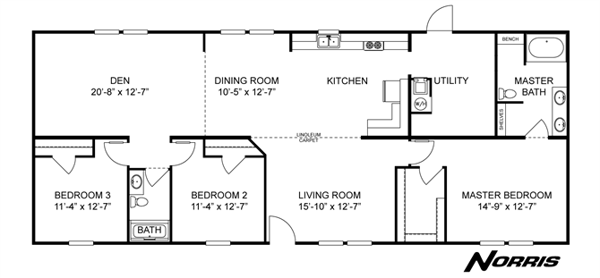Interactive Floorplan The Coleman Dsp28663a 27dsp28663ah Clayton Homes Of Morganton Clayton Homes House Floor Plans Dream House Plans