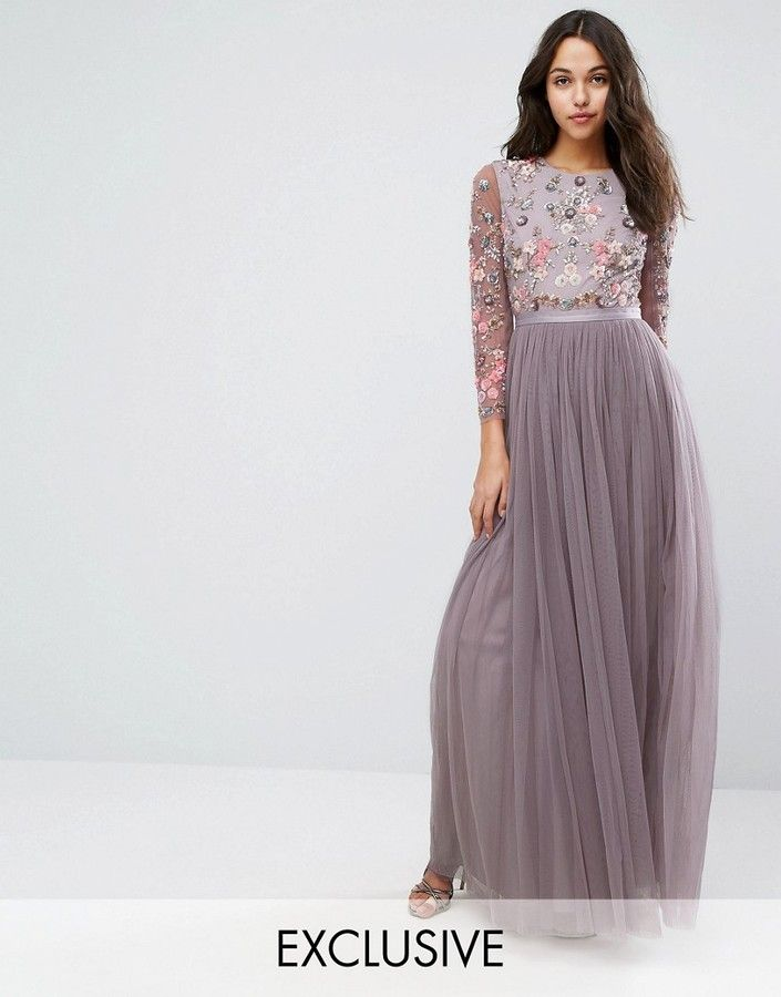 f18e6938f2719 Needle   Thread Ditsy Scatter Tulle Gown at Asos  ad