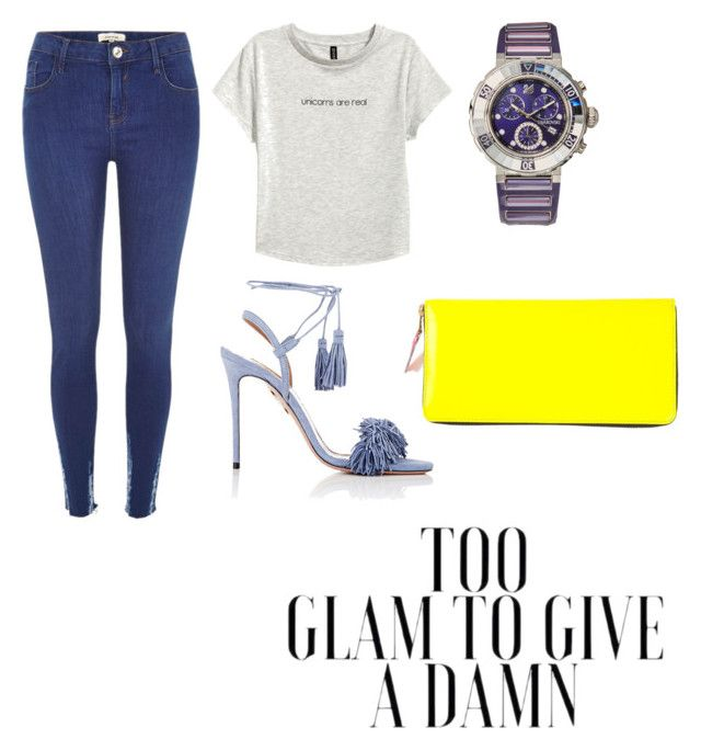 """""""Glam!!"""" by anabella1988 on Polyvore featuring Swarovski, River Island, H&M, Aquazzura and Comme des Garçons"""