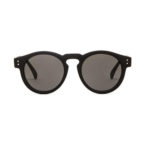 Komono The Black Rubber Series Clement ($79) ❤ liked on Polyvore featuring accessories, eyewear, sunglasses, rubber sunglasses, komono and komono sunglasses