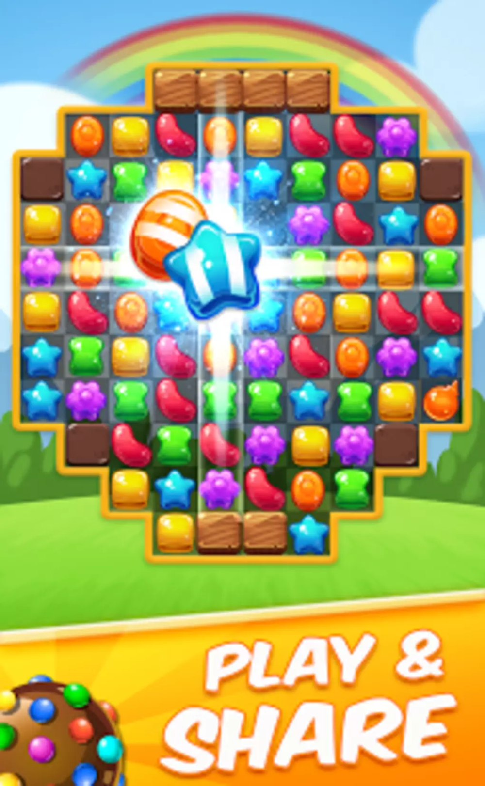 Cookie Crush Match 3 In 2020 Kings Game Free Puzzle Games Match 3