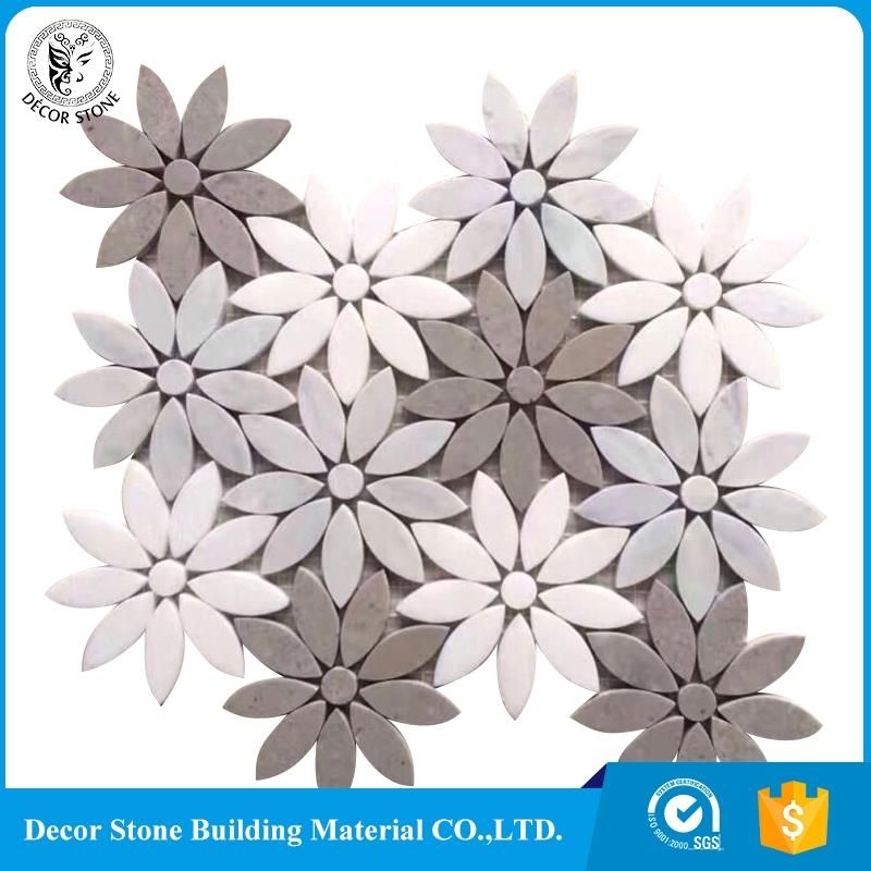 New design flower marble mosaic tile for sale | alibaba ...