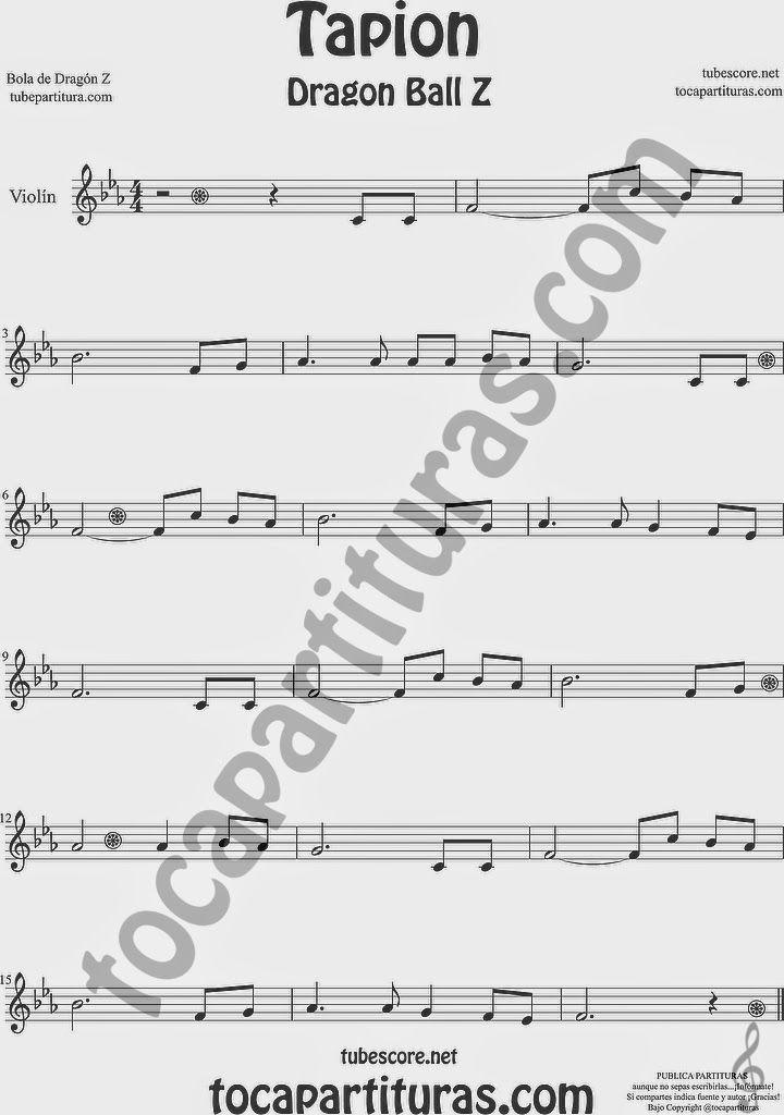 Tapion partitura de violin bola de viol n drag n z el Notas de espectaculos mas recientes