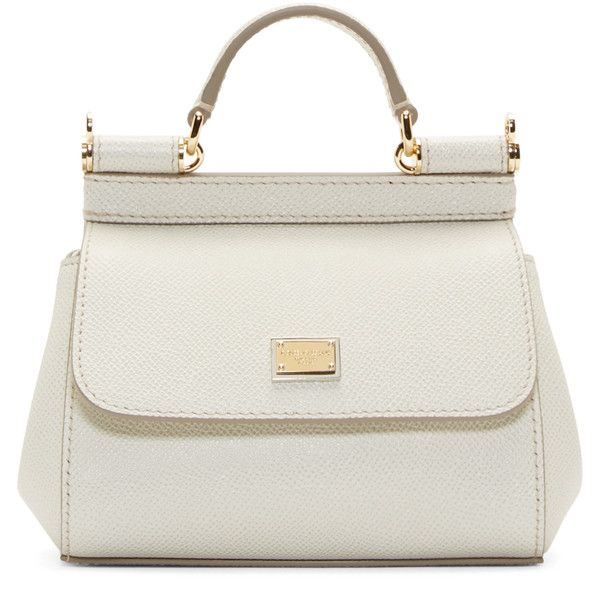 Dolce And Gabbana White Micro Miss Sicily Bag 795 Liked On Polyvore Featuring Bags Handbags Shoulder Purses Bolsas Sacs Genuine Leather