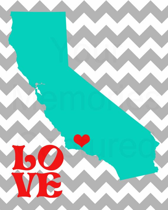 California Love Pop Art Printable  5x7 or by YourMemoriesCaptured, $10.00