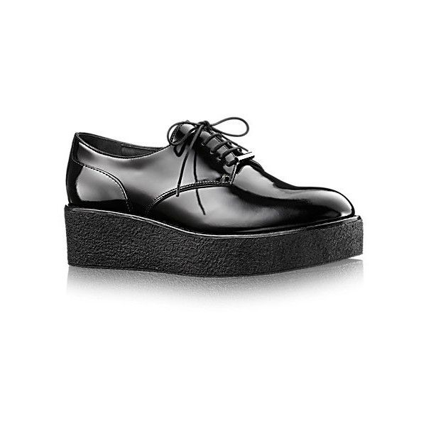 Graduate Flat Derby (€680) ❤ liked on Polyvore featuring shoes, glaze shoes