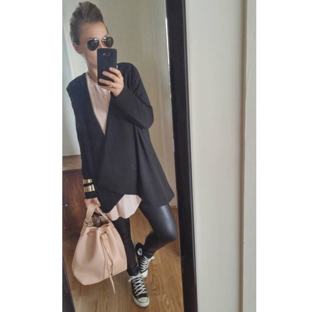 #layering #layers #superposition #pink #converse #loose #zara #look #blogueusemode #lesfripesdevalentine #instagram  #outfit