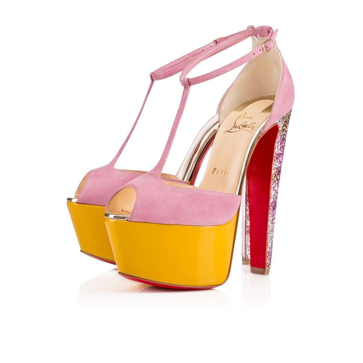NENECHERITZA SUEDE/SPECCIO, ROSETTE, Glitter, Women Shoes, Louboutin. 845€