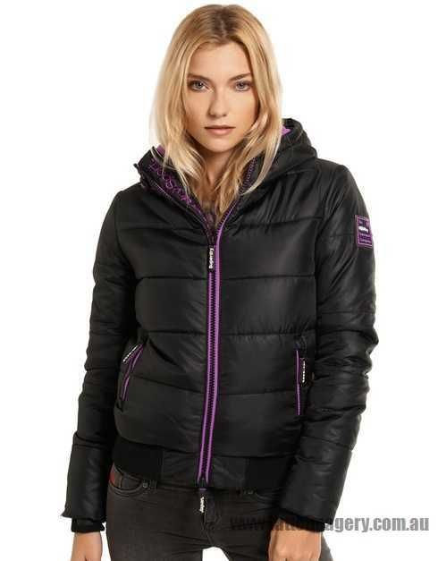 full sizes available Superdry - Polar Sports Puffer Jacket - Black & Hyper Purple - SU137AA91XAY - Women - Clothing - Coats & Jackets online site