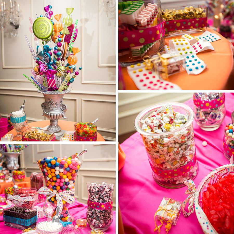 Wedding reception candy bar supplies buffet design for Candy bar for weddings receptions