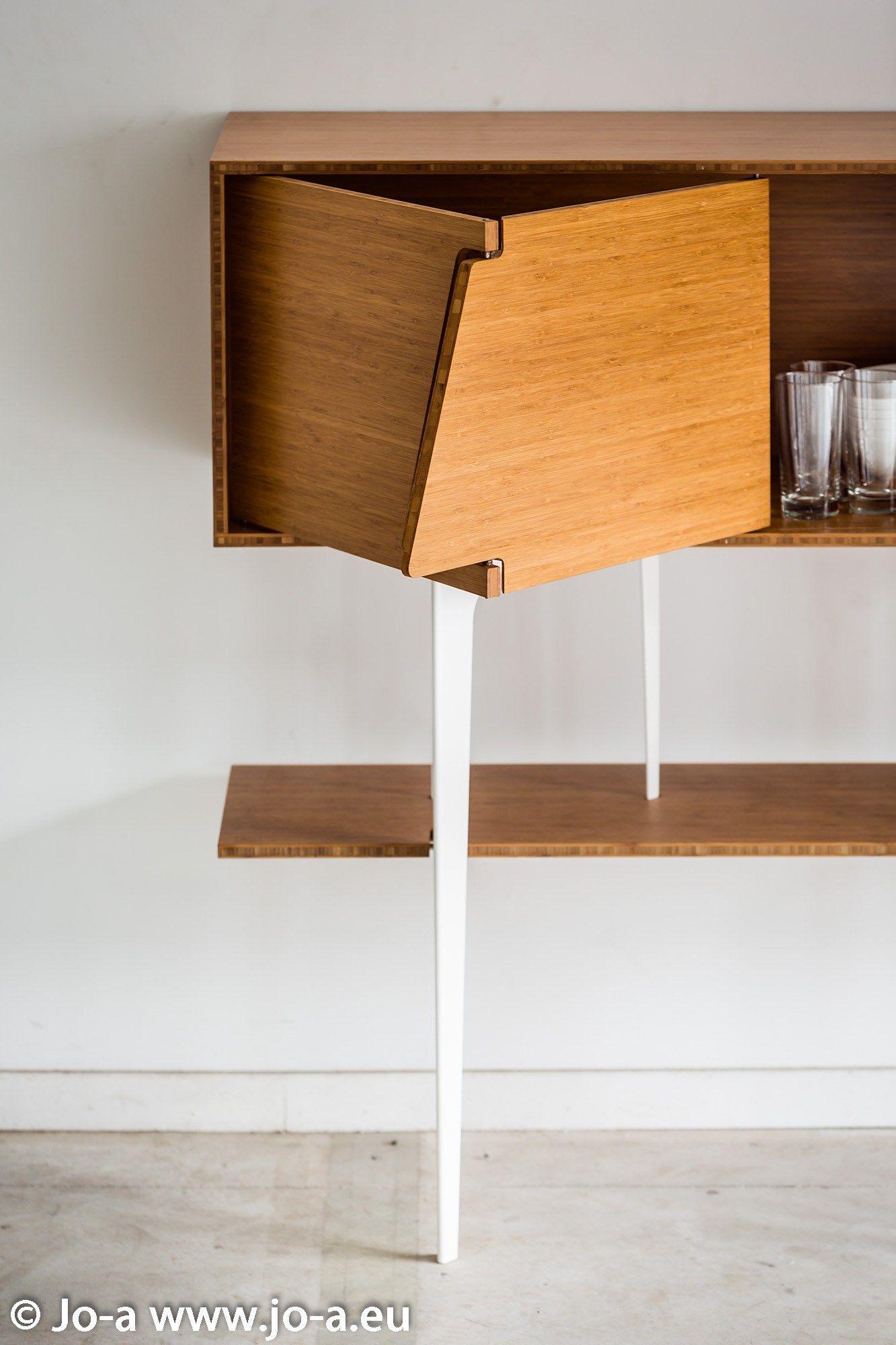 Glass cabinet door hinges  Solid wood sideboard with doors NEUS by JoaDesignedBy  design