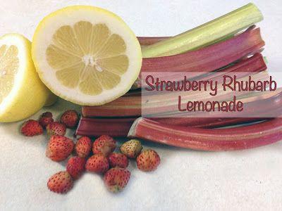 Strawberry Rhubarb Lemonade -- perfect for summer!