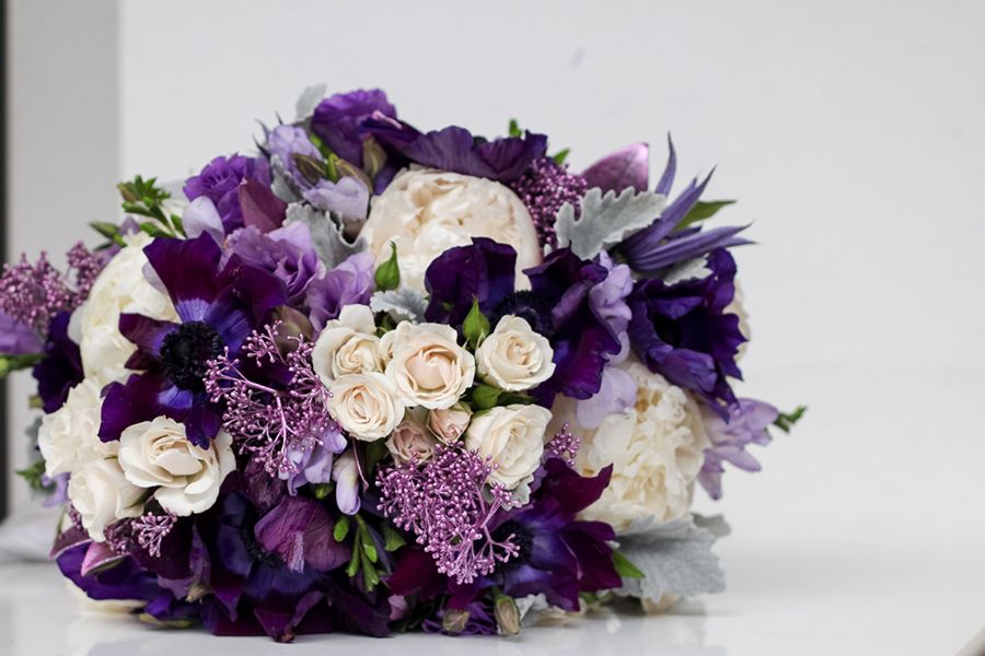 Purple Reign Wedding Bouquets Inspired By Pantone S Color Of The