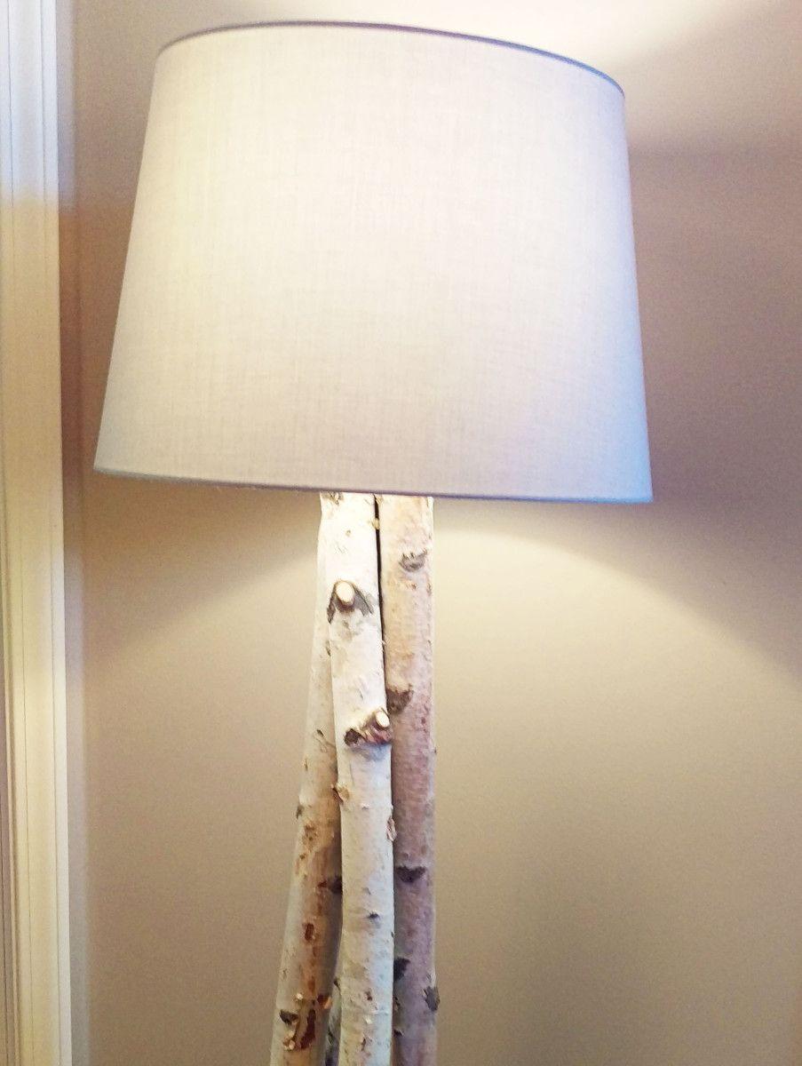 Beautiful Birch Branch Floor Lamp Diy Floor Lamp Wood Lamp Base