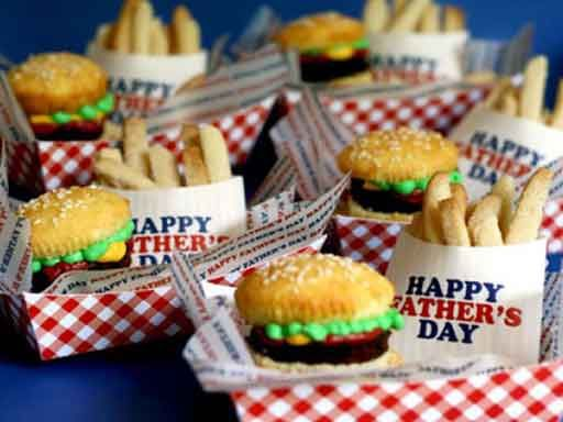 Brownie burger cupcakes carnival pary pinterest carnival brownie burger cupcakes sugar cookie french fries tutorial plus templates in pdf format for the tray the french fry holders that say happy fathers day and forumfinder Images