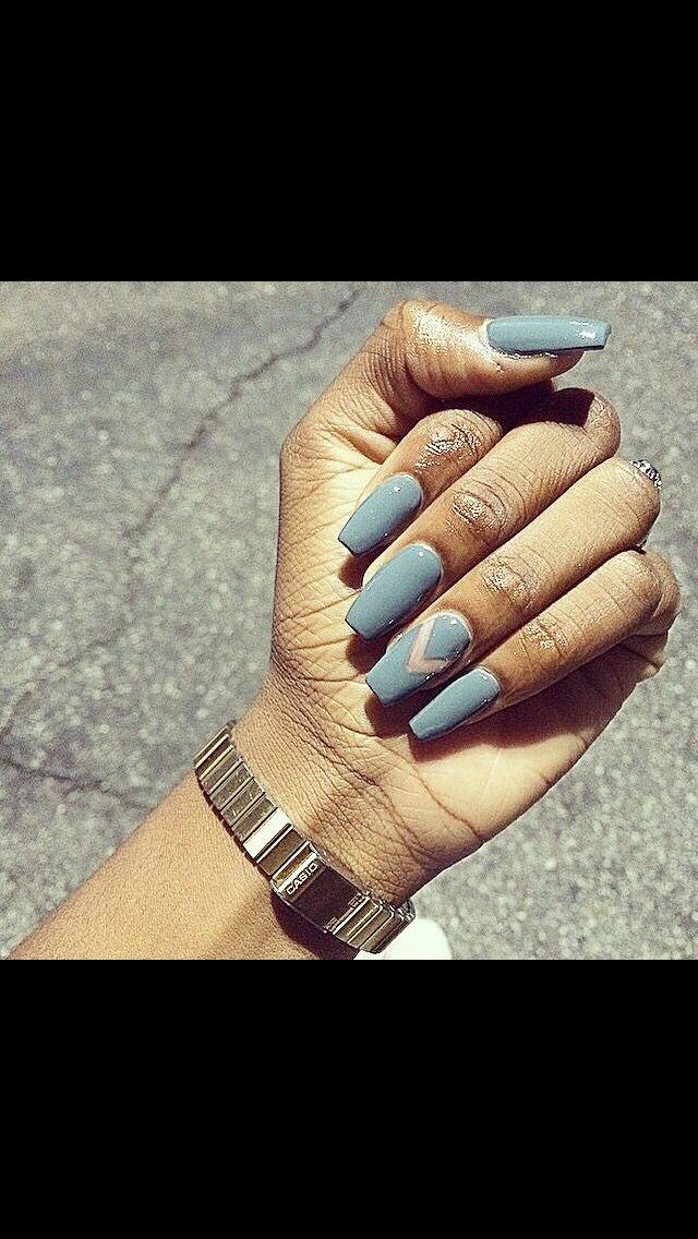 I Love Grey Ring Finger Nails Laque Nail Bar Fashion Nails