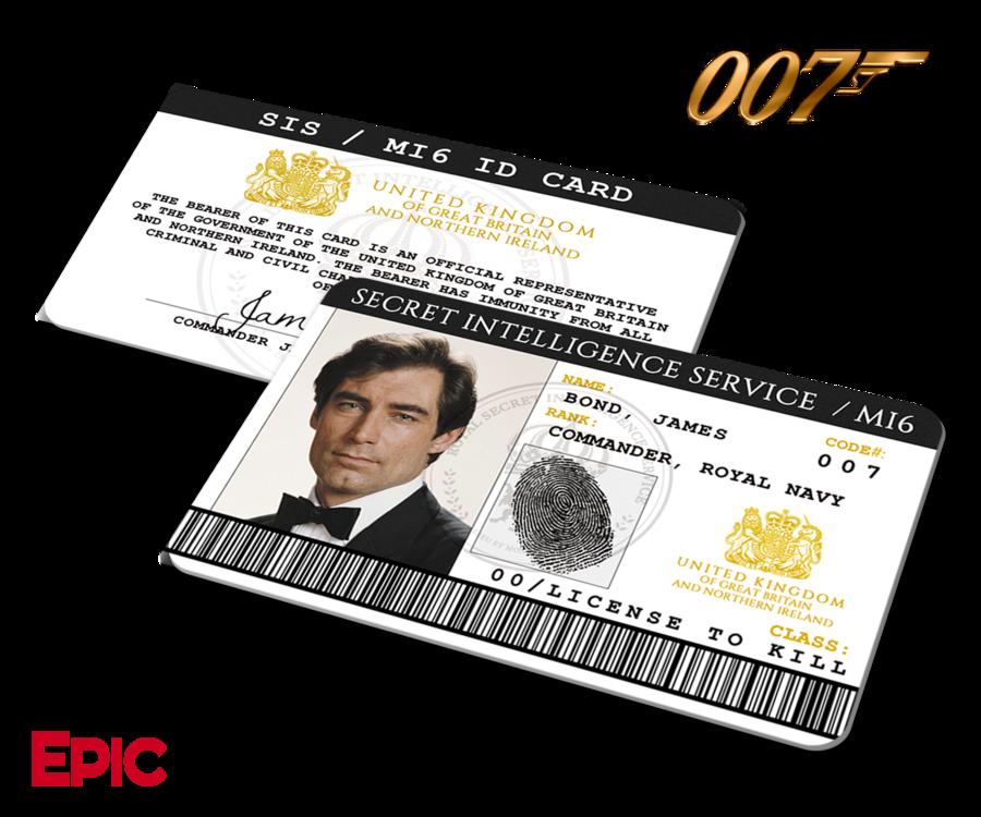 James Bond 007 Inspired Daniel Craig Secret Intelligence Service Id James Bond James Bond Movie Posters Bond