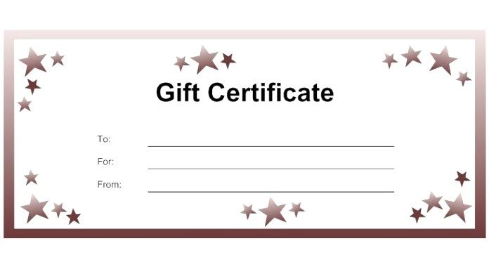 blank gift certificate free